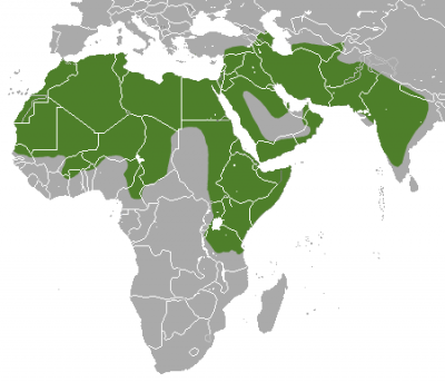 Striped Hyena habitat map
