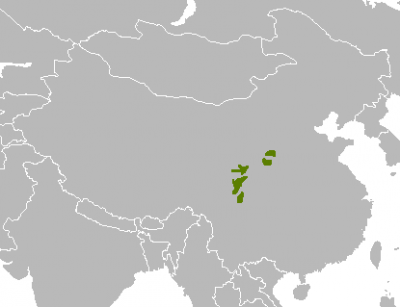 Giant Panda habitat map