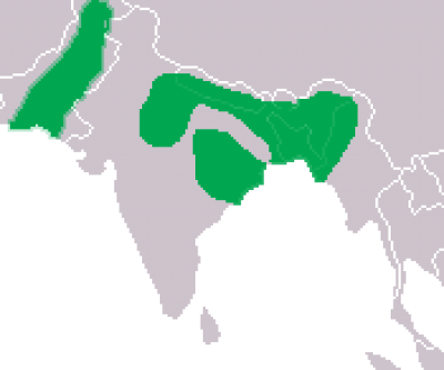 Gharial habitat map