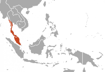 Dusky Leaf Monkey habitat map