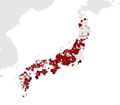 Japanese Macaque habitat map
