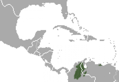 Brown Spider Monkey habitat map