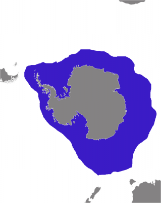 Leopard Seal habitat map