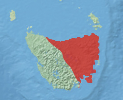 Eastern Bettong habitat map