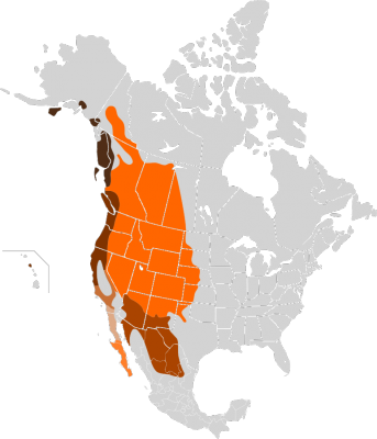 Mule Deer habitat map