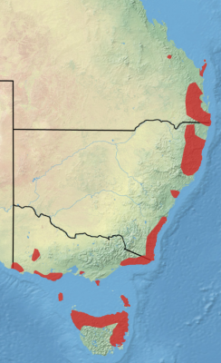 Long-Nosed Potoroo habitat map