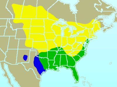 Brown Thrasher habitat map