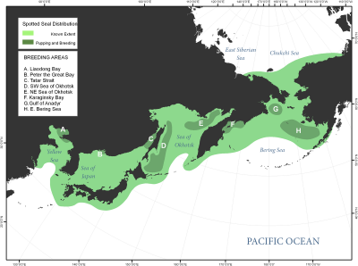 Spotted Seal habitat map