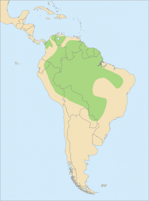 Green-Winged Macaw habitat map