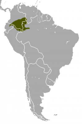 Brown Woolly Monkey habitat map