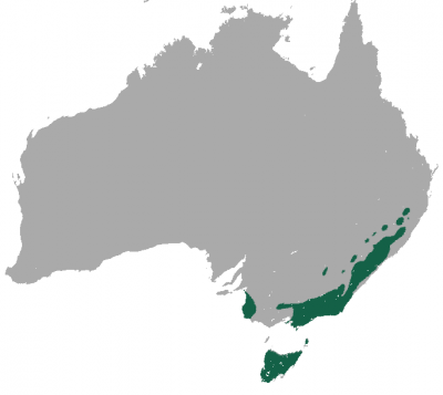 Common Wombat habitat map