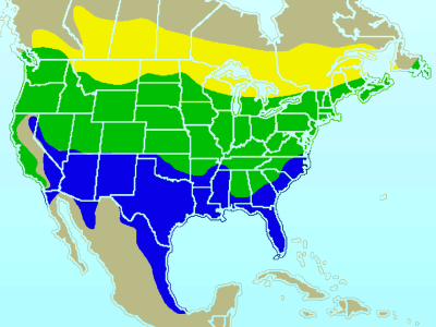 American Goldfinch habitat map