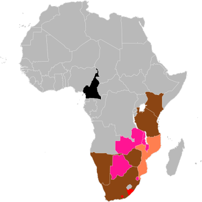 Black Rhinoceros habitat map