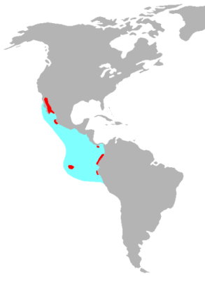 Blue-Footed Booby habitat map