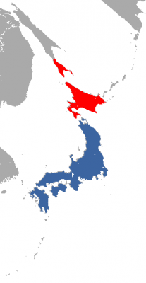 Japanese Weasel habitat map