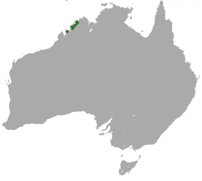Golden Bandicoot habitat map