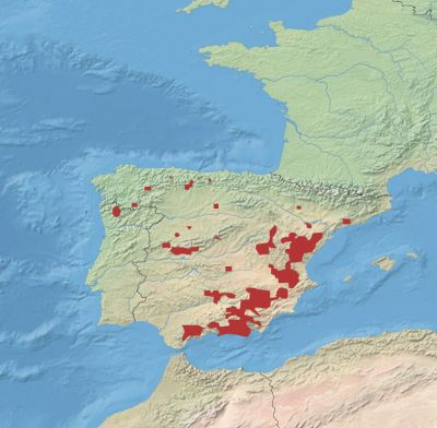 Spanish Ibex habitat map