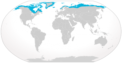 Arctic Fox habitat map