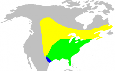 Common Grackle habitat map