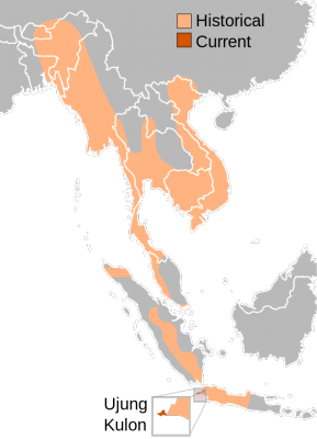 Javan Rhinoceros habitat map