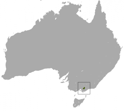 Leadbeater's Possum habitat map