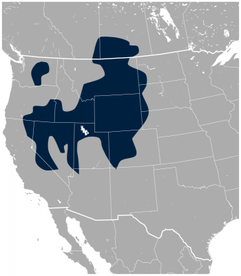 Greater Sage Grouse habitat map