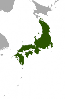 Japanese Hare habitat map
