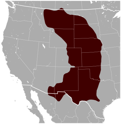 Black-Tailed Prairie Dog habitat map