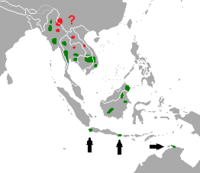 Banteng habitat map