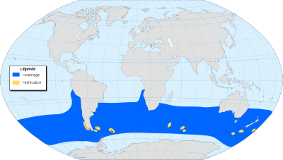 Black-Browed Albatross habitat map
