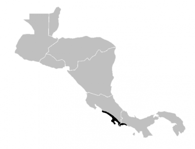 Central American Squirrel Monkey habitat map