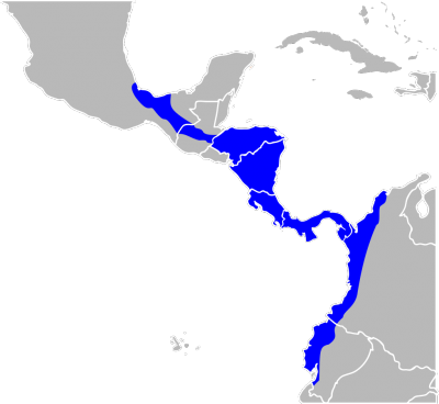 Mantled Howler Monkey habitat map