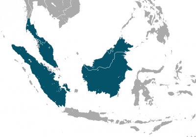 Southern Pig-Tailed Macaque habitat map