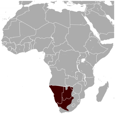 Gemsbok habitat map