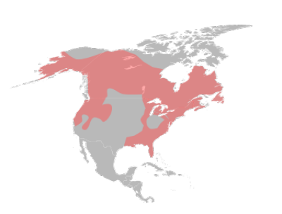 North American River Otter habitat map
