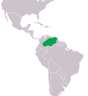 Orinoco Crocodile habitat map