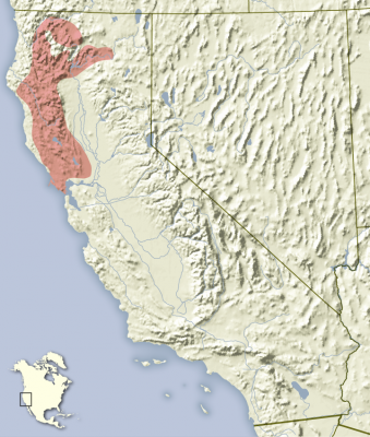 Sonoma Chipmunk habitat map