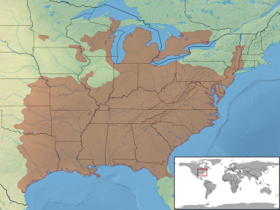 American Five-Lined Skink  habitat map