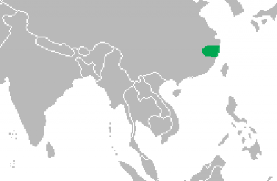 Chinese Alligator habitat map