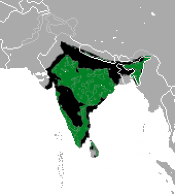 Sloth Bear habitat map