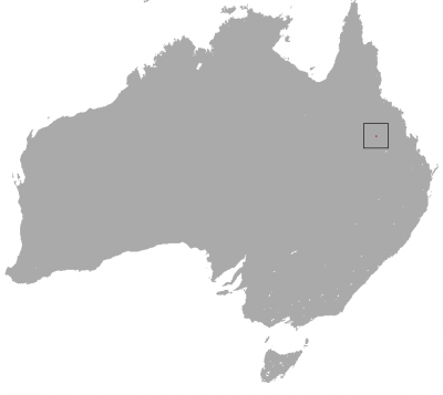 Northern Hairy-Nosed Wombat habitat map