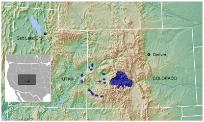 Gunnison Sage-Grouse habitat map