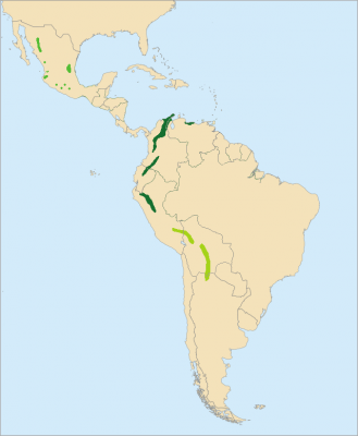 Military Macaw habitat map