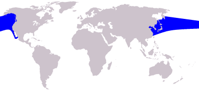 Pacific White-Sided Dolphin habitat map