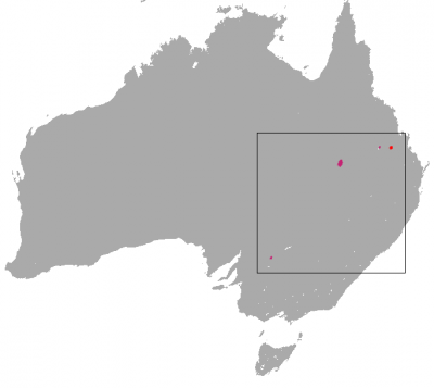 Bridled Nail-Tail Wallaby habitat map
