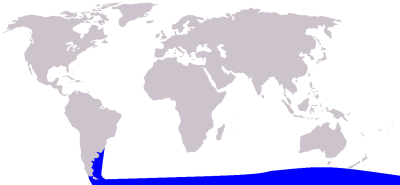 Spectacled Porpoise habitat map