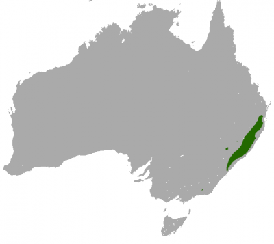 Brush-Tailed Rock-Wallaby habitat map