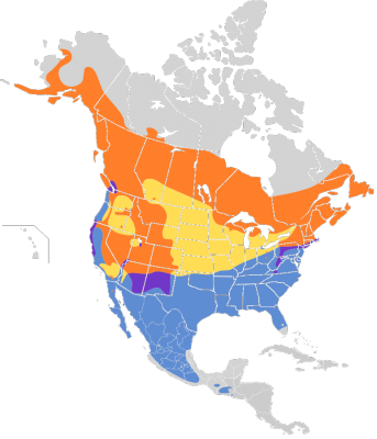 Hermit Thrush habitat map