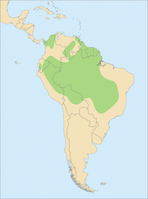 Blue-and-Gold Macaw habitat map